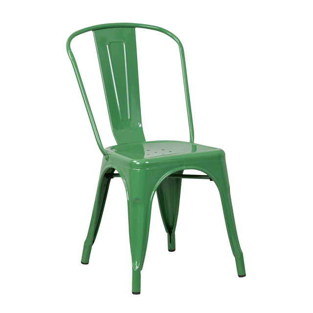Green Metal Indoor-Outdoor Stackable Chair, CH-31230-GN-GG ...