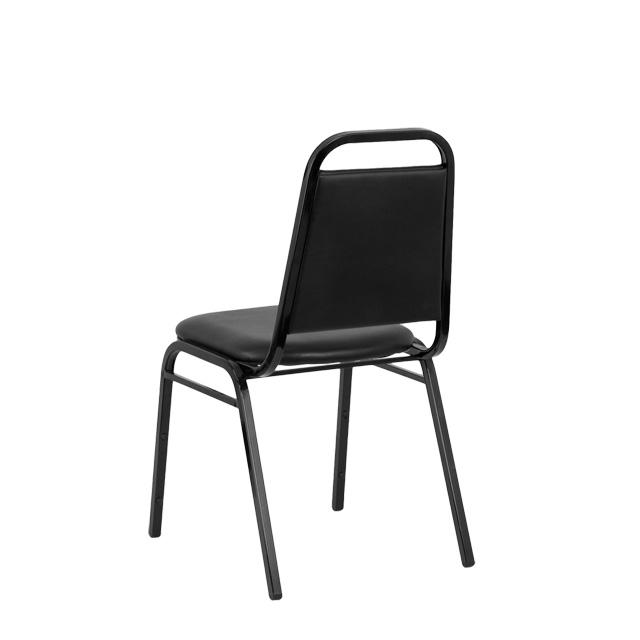 High Quality HERCULES Series Trapezoidal Back Stacking Banquet Chair In Black Vinyl    Black Frame, FD BHF 2 GG | RestaurantFurniture4Less.com
