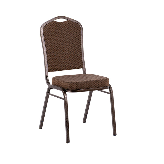 hercules series crown back stacking banquet chair in brown