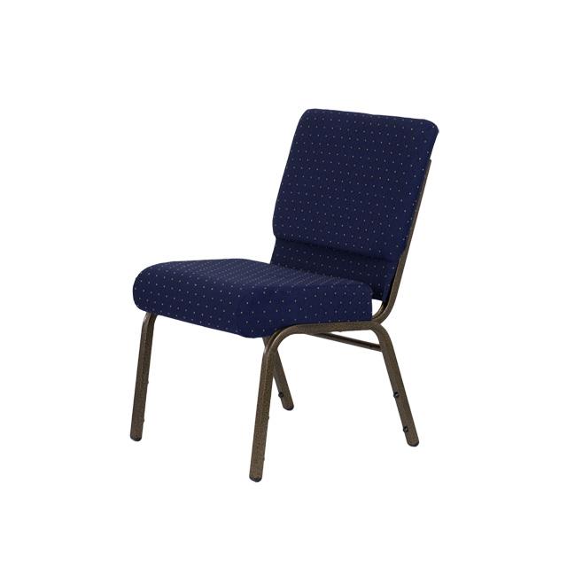 HERCULES Series 21W Stacking Church Chair in Navy Blue Dot