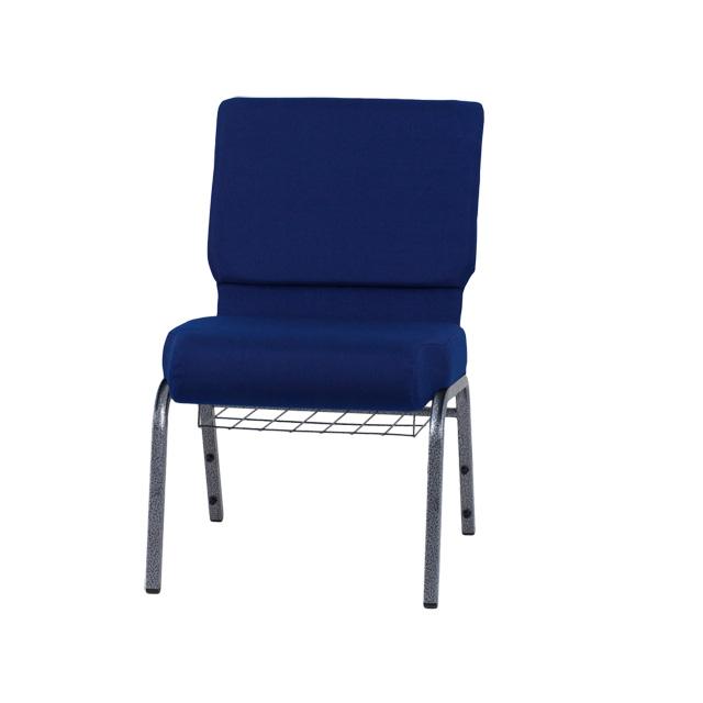 For Less Furniture: HERCULES Series 21''W Church Chair In Navy Blue Fabric