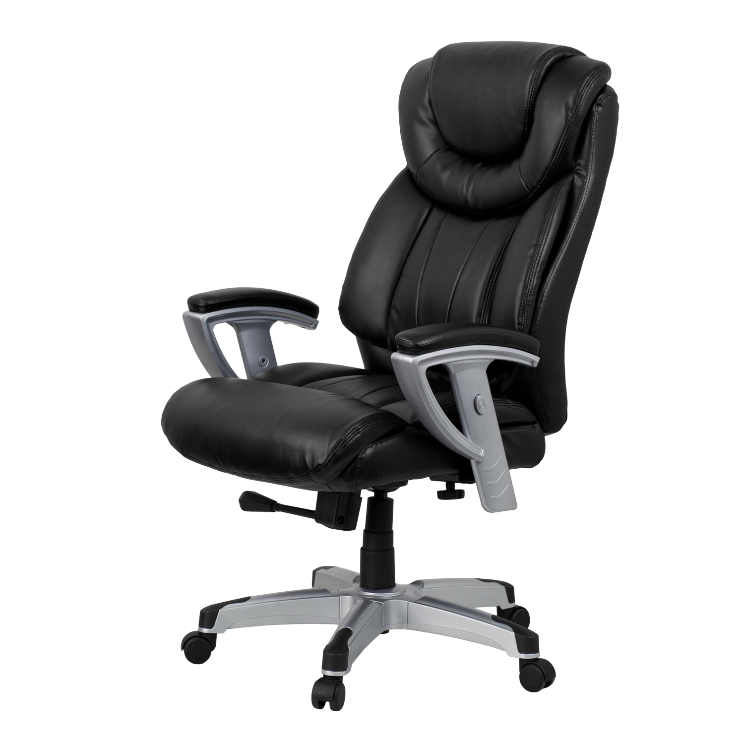 hercules series big & tall 400 lb. rated black leather executive