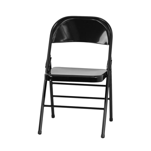 Black Metal Folding Chairs hercules series triple braced & double hinged black metal folding