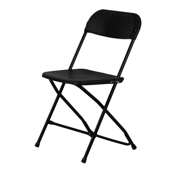Capacity Premium Black Plastic Folding Chair, LE L 3 BK GG