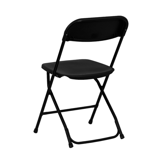 hercules folding chair portable black leather office camping