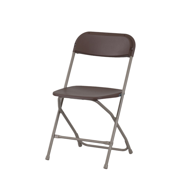 Lovely Capacity Premium Brown Plastic Folding Chair, LE L 3 BROWN GG