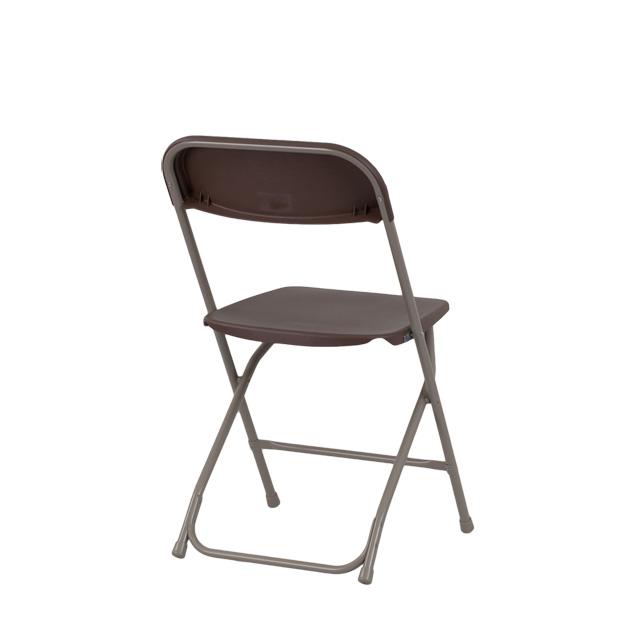 capacity premium brown plastic folding chair