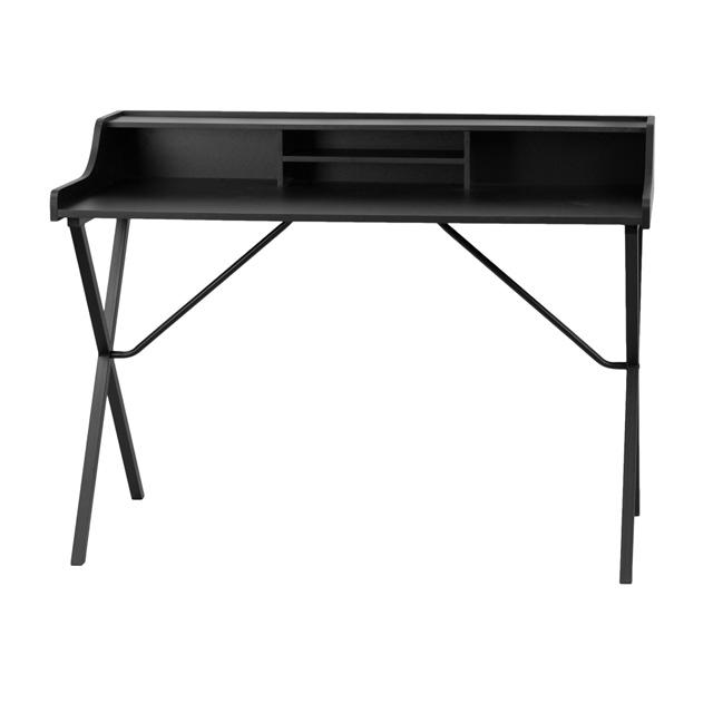 black computer desk with top shelf nan 2124 gg. Black Bedroom Furniture Sets. Home Design Ideas