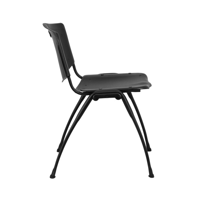 HERCULES Series 880 Lb. Capacity Black Plastic Stack Chair [RUT D01 BK GG]