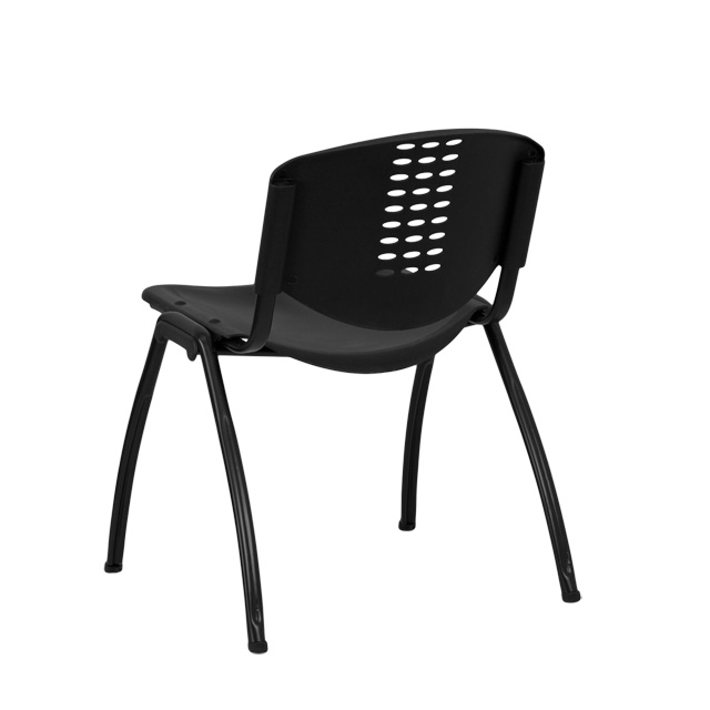 HERCULES Series 880 Lb. Capacity Black Plastic Stack Chair With Black Frame  [RUT NF01A BK GG]