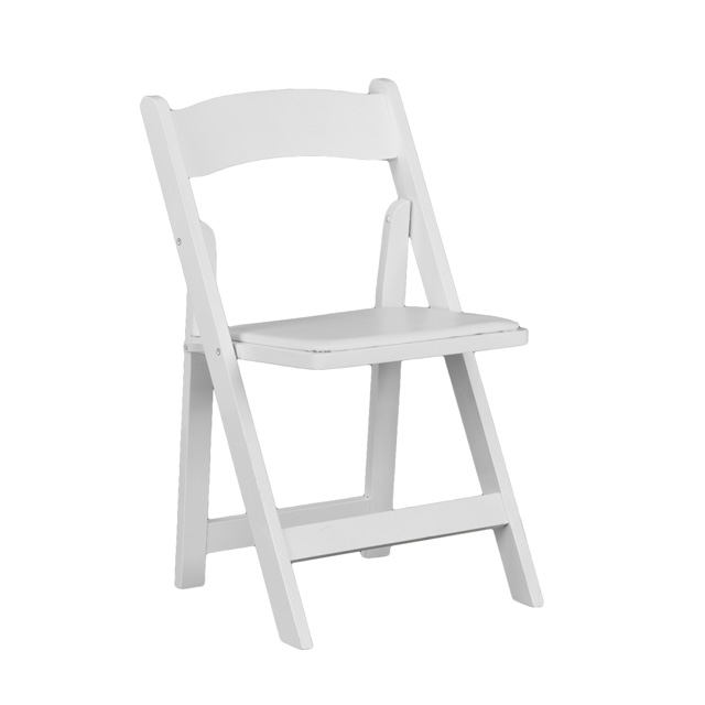 Hercules Series White Wood Folding Chair With Vinyl Padded Seat Foldingchairs4less Com