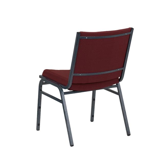 hercules series heavy duty burgundy patterned fabric stack chair xu60153bygg
