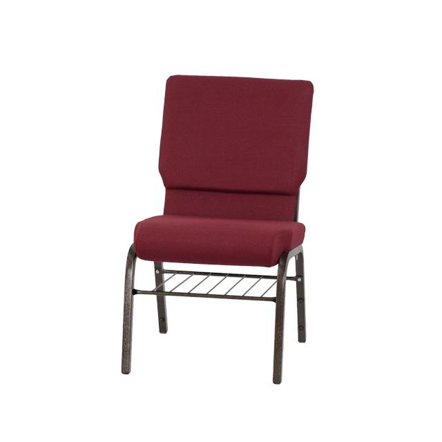 HERCULES Series 18 5 W Church Chair in Burgundy Fabric